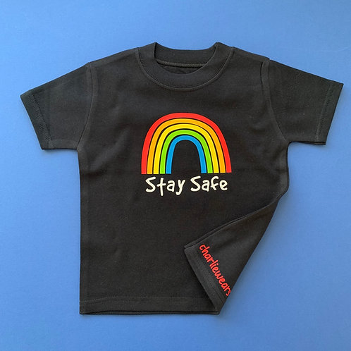 Personalised Rainbow Kids Tee