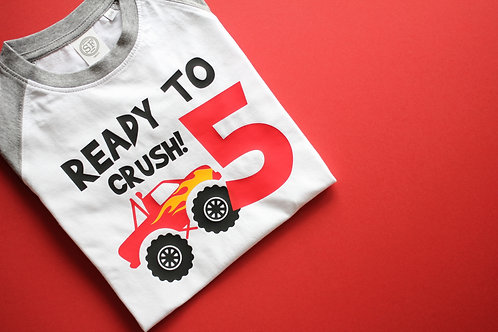 Monster Truck Birthday Tee