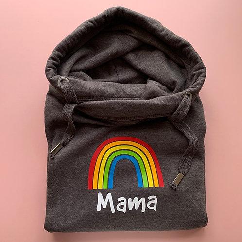 Rainbow Cross Neck Hoodie