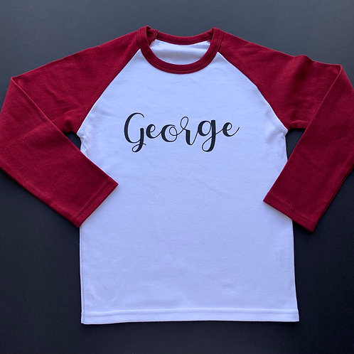 Personalised Name Raglan