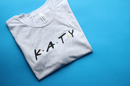 Adult Friends Inspired Name Tee