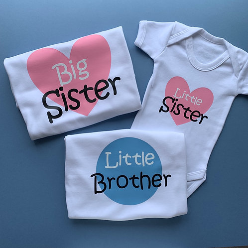 Big/Little Sister/Brother Tee