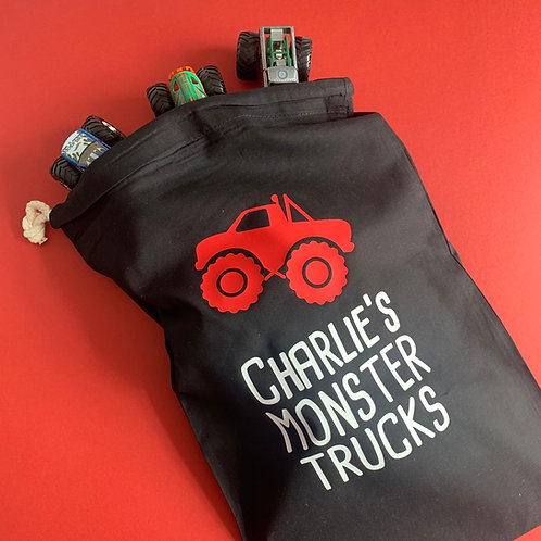 Personalised Monster Truck Toy Bag