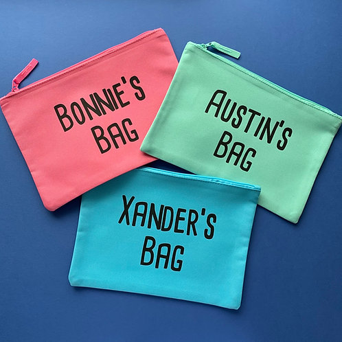 Simple Personalised Pouch