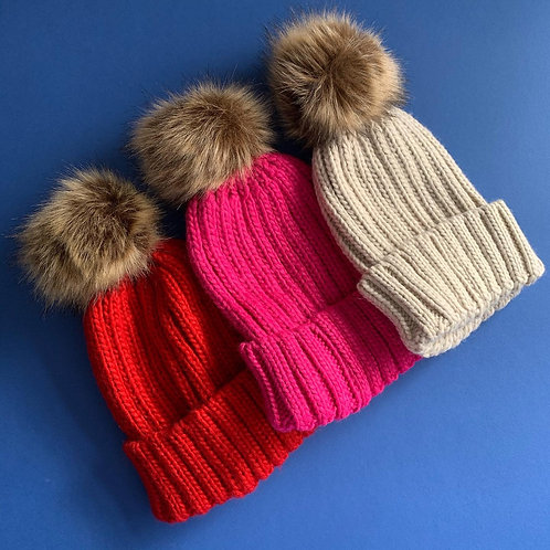 Single Pom Pom Hats