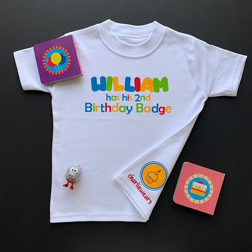 Personalised Duggee Badge Tee