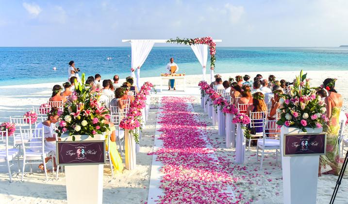 Canva - Beach Wedding Ceremony during Da