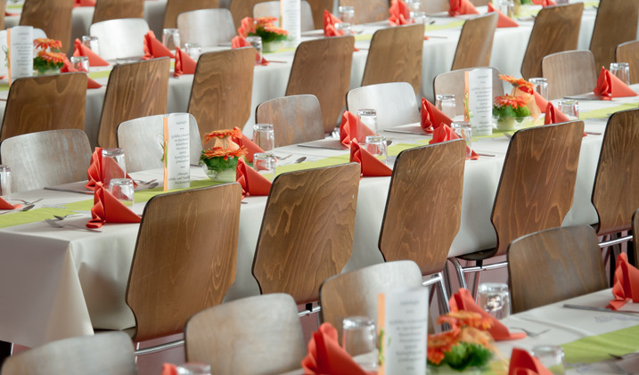 Canva - Long Tables With White Cloths an