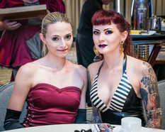 With Mistress Ultra Violet at the Mistress Tea Domcon 2018