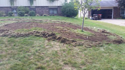 Almost done with removal of the grass