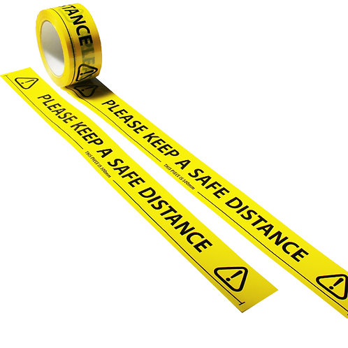"""Please Keep A Safe Distance"" Floor Marking Tape 50mm x 66m"