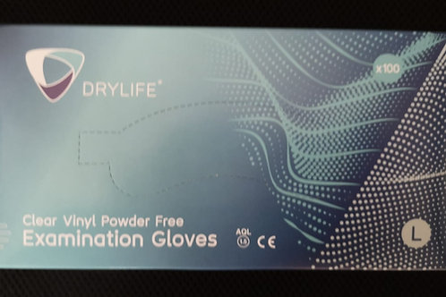 Vinyl Powder Free Gloves - Clear (100pk)