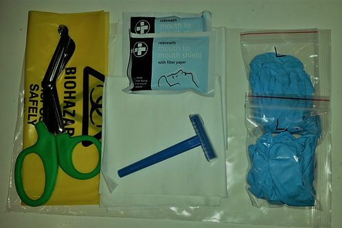 2 Rescuer AED Premium Emergency Response Refill Kit