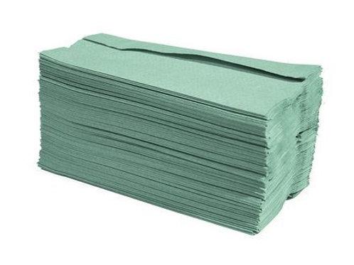 Hand Towels 1 Ply C-Fold Green 33cm x 23cm 2880pk