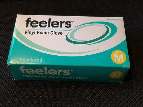 Vinyl  Powdered Gloves - Clear (100pk)