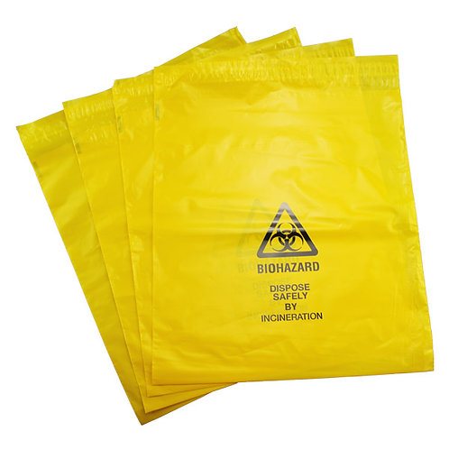 Biohazard Disposal Bags Pack of 10, 25 or 50 (335mm x 381mm)