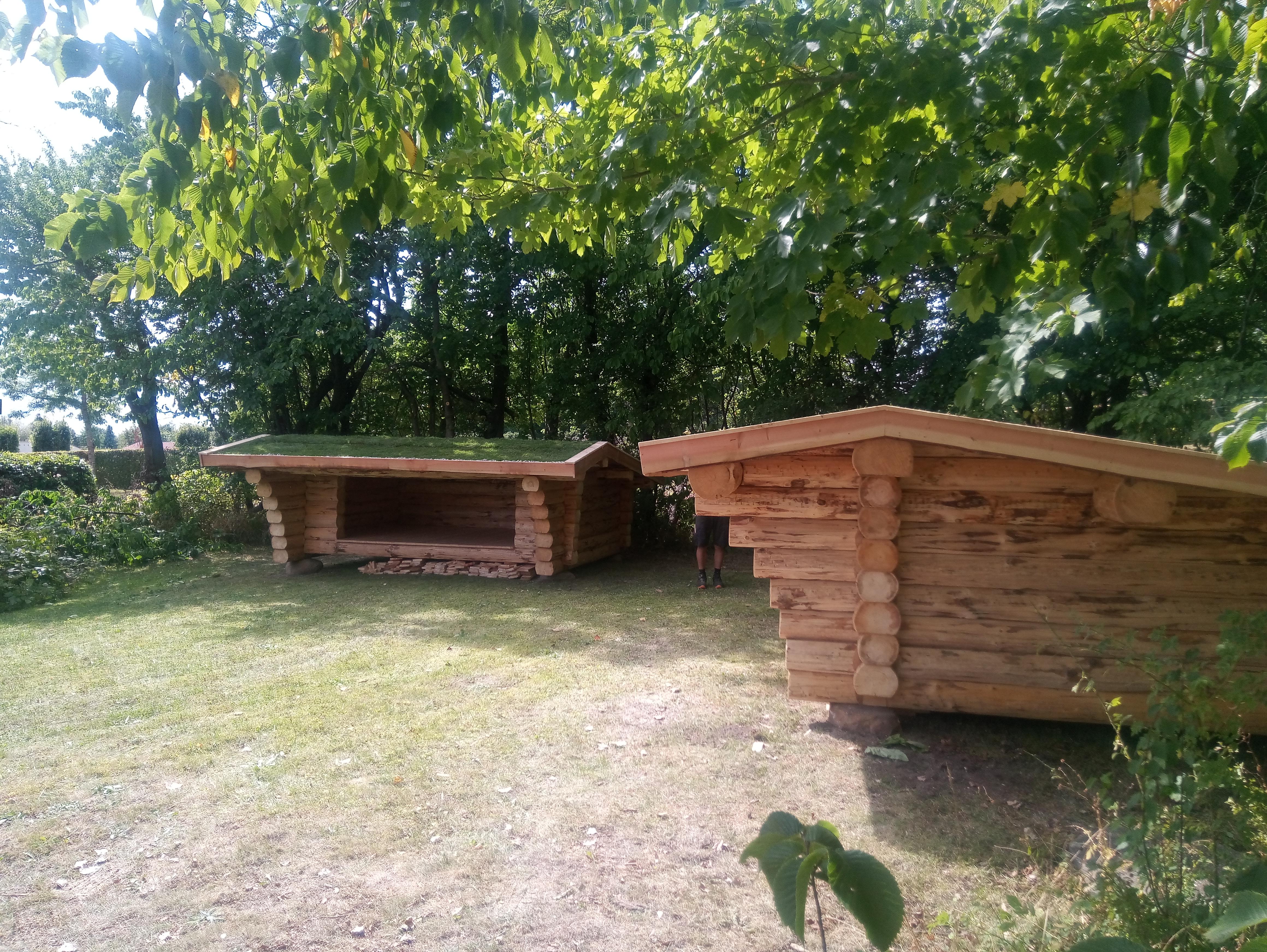 Fuldtømmershelters i 7-tommer tømmer
