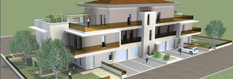 Attico con ampio terrazzo panoramico, Nuova costruzione, Cava, Forlì