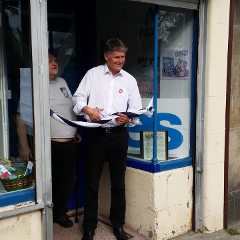 Colin Fox Opens the Hub