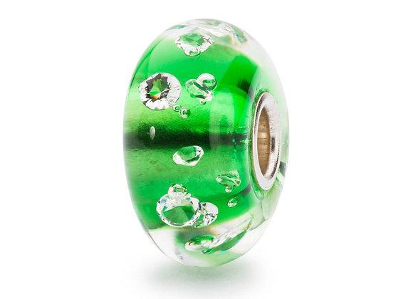 TROLLBEADS THE DIAMOND BEAD,EMERALD GREEN TGLBE