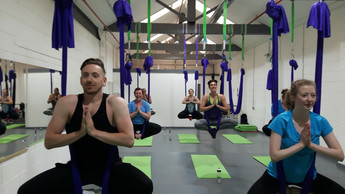 Aerial Yoga with Sam and Paddy