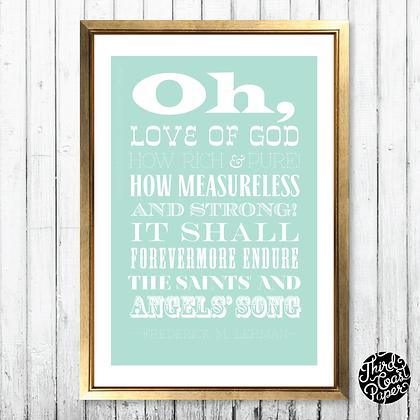 The Love of God Subway Print