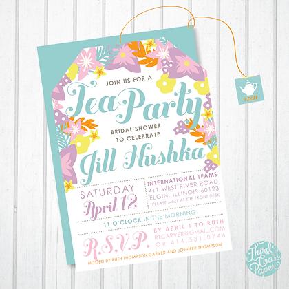 Pastel Tea Party Invitation