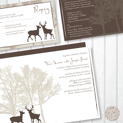 Deer Wedding Invitation