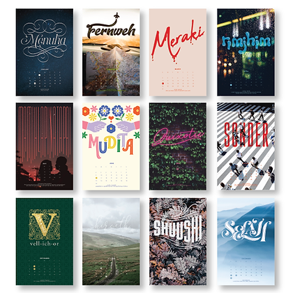 """2020 """"Beautiful Words"""" Mini Calendar"""