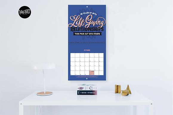 2021 Life Rule Write-On Calendar
