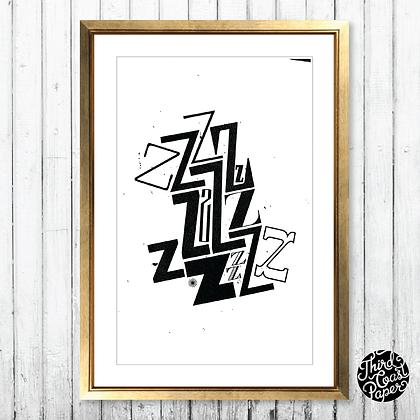 Letter Z Type Specimen Print