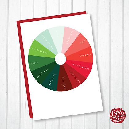 Color Wheel Christmas Card