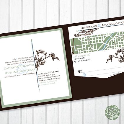 Cedar Branch Wedding Invitation