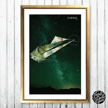 Carina Constellation Map Print