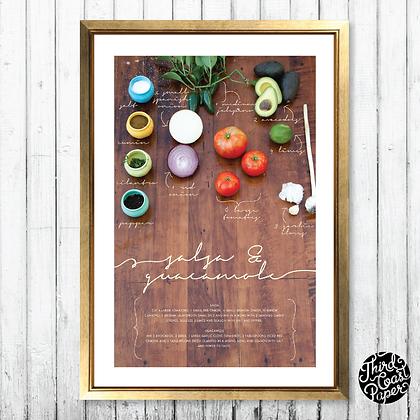 Salsa & Guacamole Recipe Art Print
