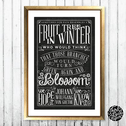 """Johann Wolfgang von Goethe """"Fruit Tree in Winter"""""""