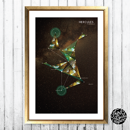 Hercules Constellation Map Print