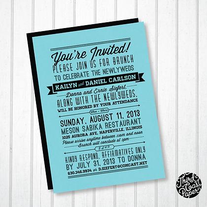 Typographic Banner Invitation