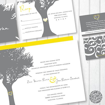 Tree of Love Wedding Invitation