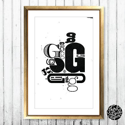 Letter G Type Specimen Print