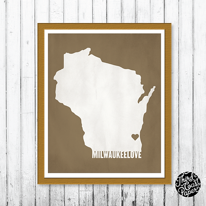 Milwaukee Love Print