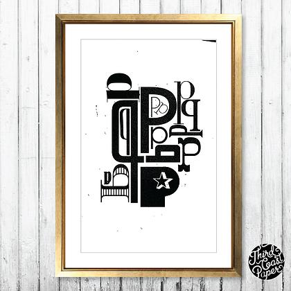 Letter P Type Specimen Print