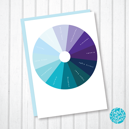 Color Wheel New Year's Card