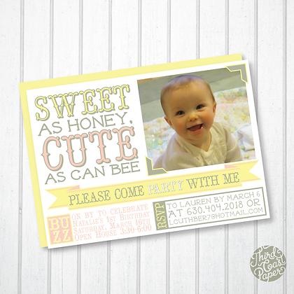 Sweet & Cute Birthday Invitation