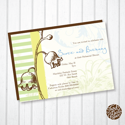 Floral Etching Invitation