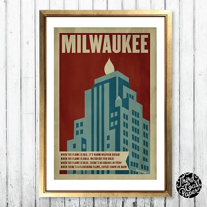 Milwaukee Gas Light Building Print