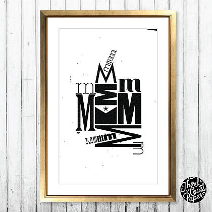 Letter M Type Specimen Print