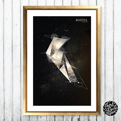 Boötes Constellation Map Print