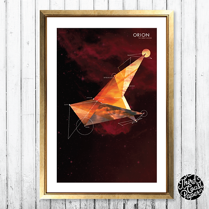 Orion Constellation Map Print
