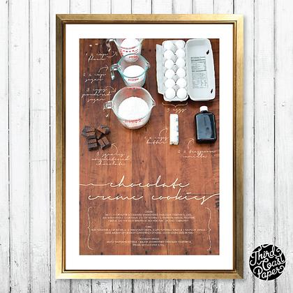 Chocolate Creme Cookies Recipe Art Print